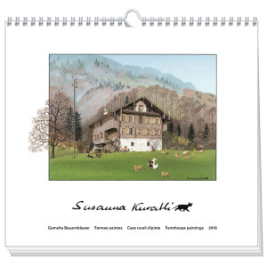 art calendar susanna kuratli 2016 farmhouse paintings