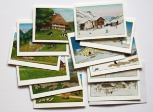 Set of 12 mini cards different subjects