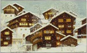 "Karte mit Kuvert ""S. Jean"" 17x12 cm"