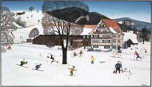 """Karte mit Kuvert """"Wattwil"""" 17x12 cm"""