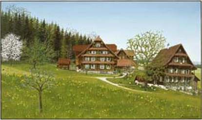 """Cham"" Doppelkarte mit Kuvert 21×15 cm"