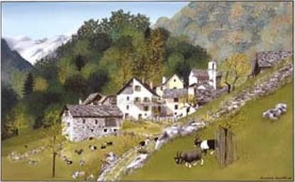 """Collinasca"" Doppelkarte mit Kuvert 21×15 cm"