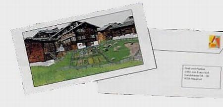 Kuvert mit übergrossem Fenster, weiss
