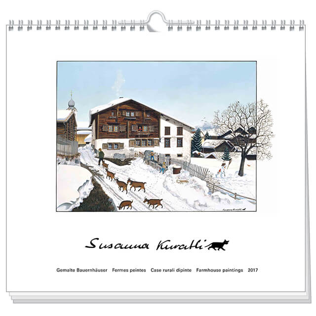 art calendar susanna kuratli 2017 farmhouse paintings