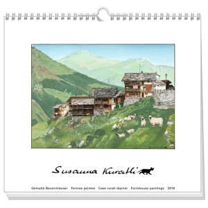art calendar susanna kuratli 2018 farmhouse paintings